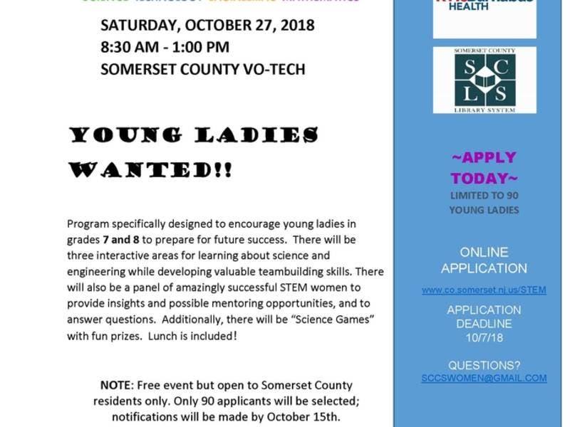 Apply by Oct  7 for STEM Program | Bridgewater, NJ Patch