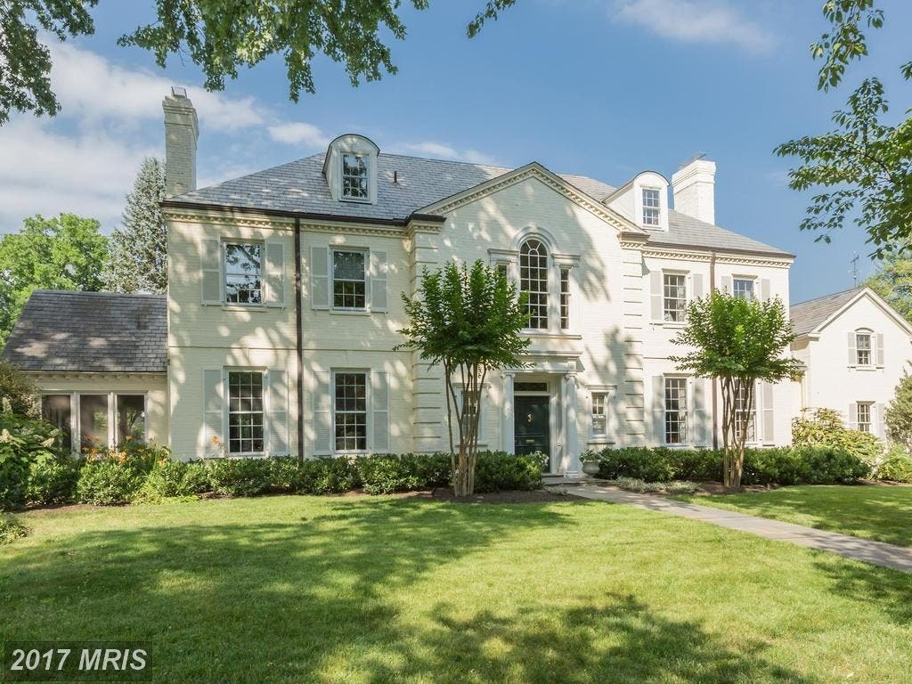 Chevy Chase Wow House 3 1m Buys Kenwood Georgian With