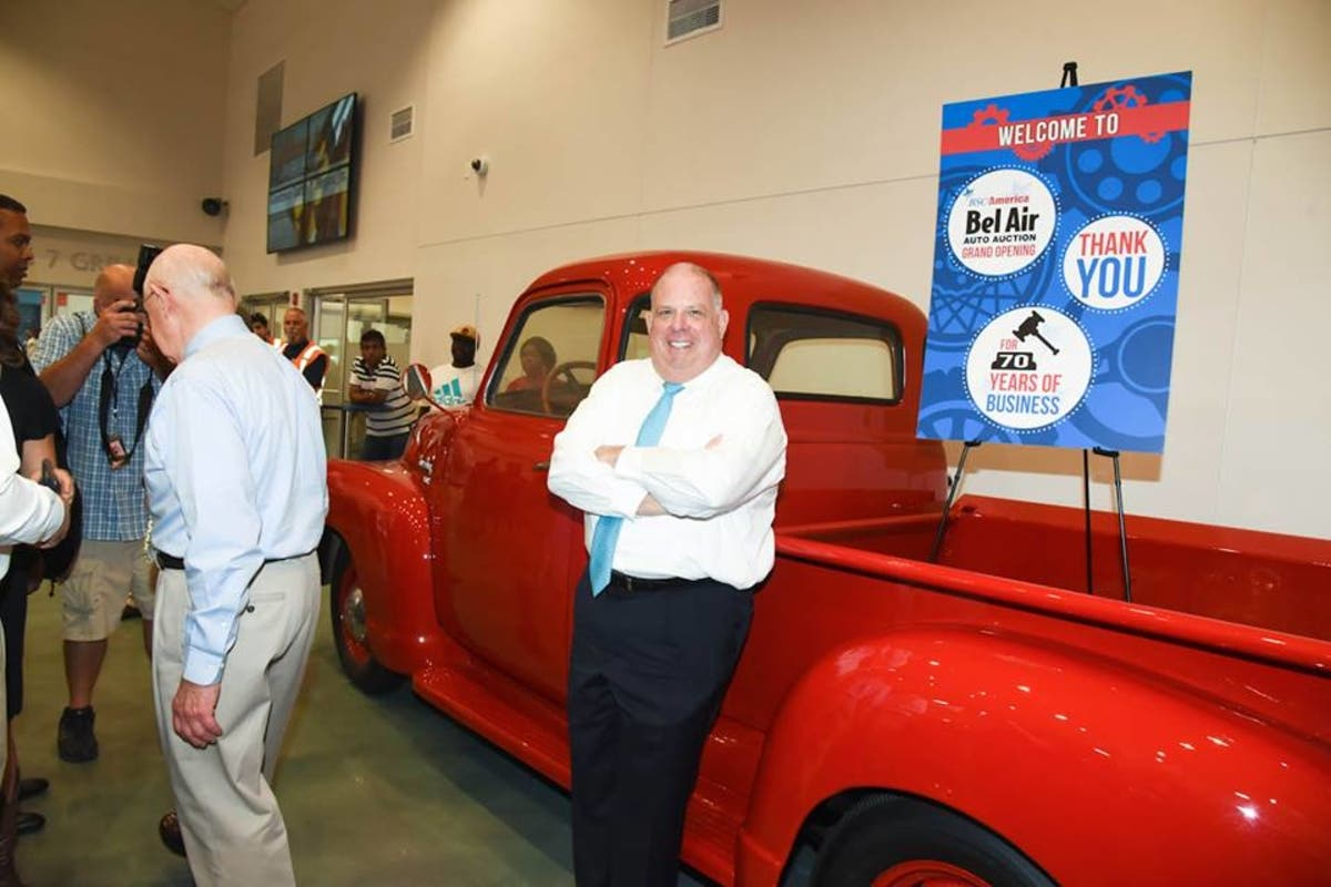 Belair Auto Auction >> Gov Hogan Tours Bel Air Auto Auction Bel Air Md Patch