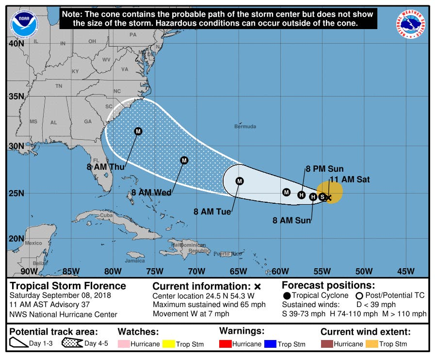 Va State Of Emergency Before Florence Becomes Major Hurricane