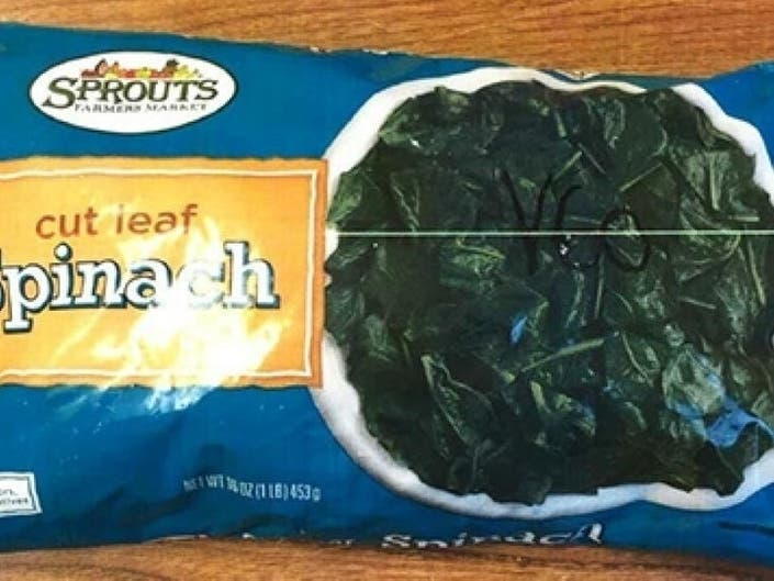 Frozen Spinach Recalled In Florida Over Listeria Concern