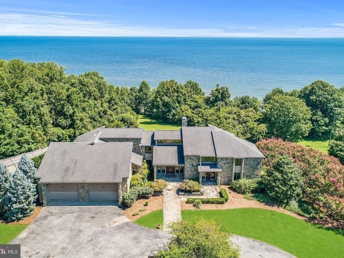 Largest Houses For Sale In MD: Tom Clancys Bay Estate For $6.2M