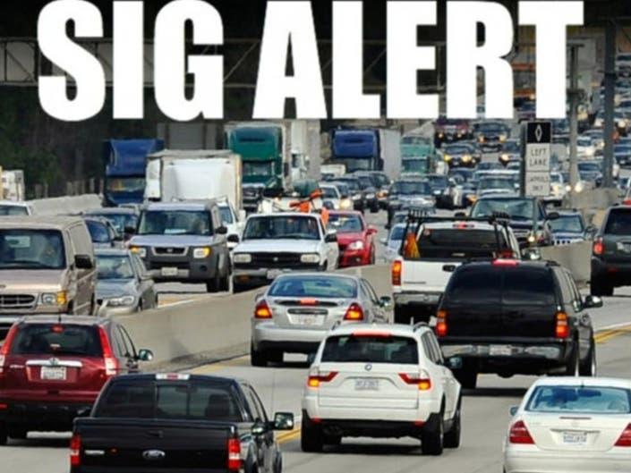 SigAlert: 5 Big Rig Crash Jams Up 5 Freeway