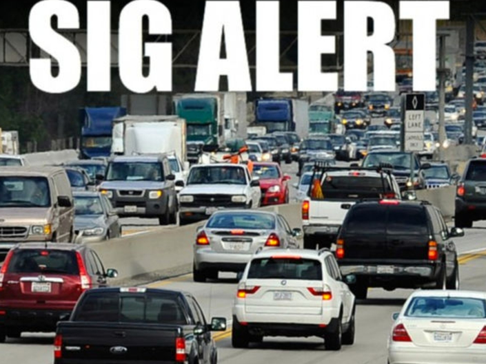 SigAlert: Hay Bale Fire Jams Traffic Along 210 And 118 Freeways