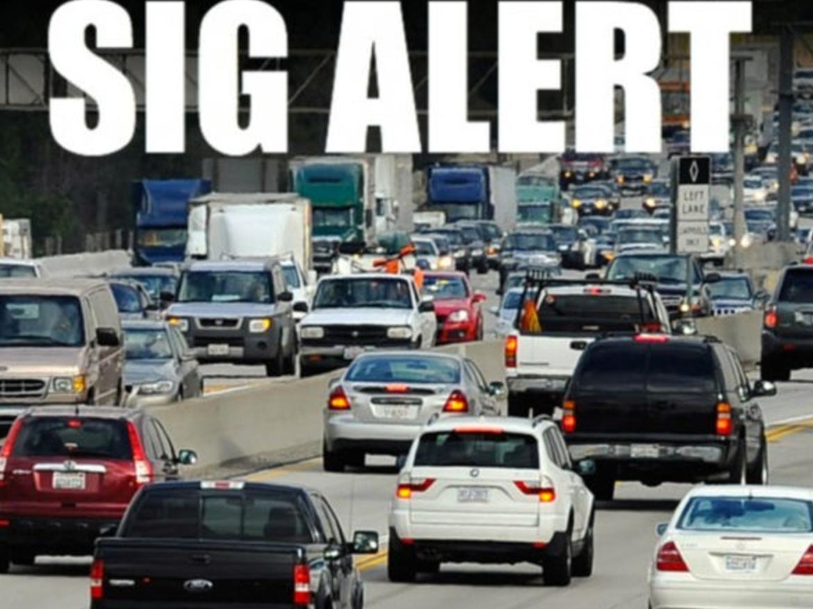 SigAlert: Car Fire Shuts Down 101 Freeway Lanes