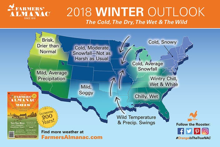 Farmers Almanac Winter 2019 2020 Wisconsin.Farmer S Almanac Predicts Rough Winter Ahead For Wisconsin