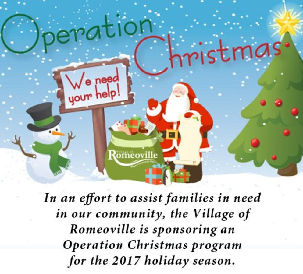 Help With Christmas.Operation Christmas Helps Romeoville Families In Need