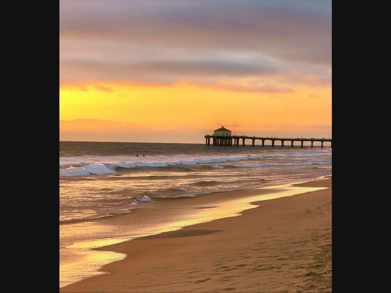 Another Gorgeous Manhattan Beach Sunset Photo Of The Day Manhattan Beach Ca Patch