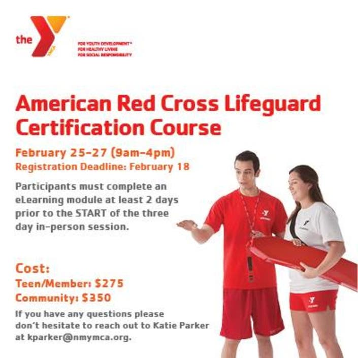 lifeguard ymca cross certification course offered patch job think nh