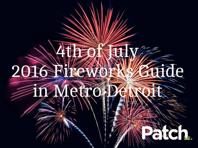 4th of july fireworks 2020 michigan