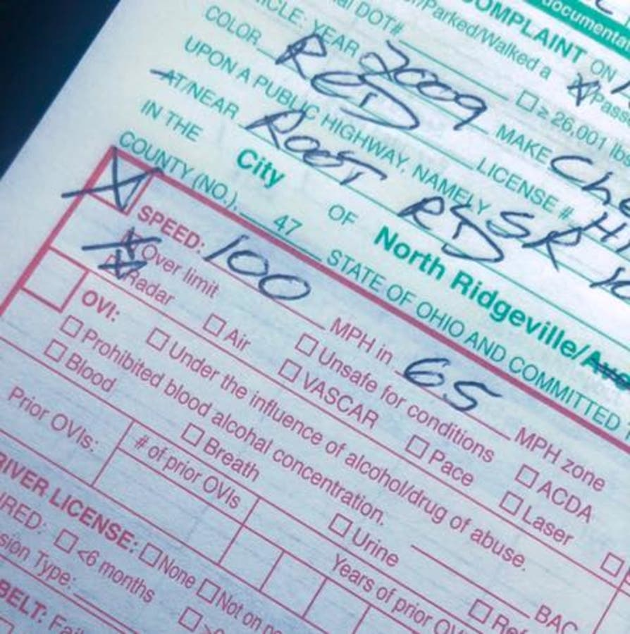 Slow Down  You Are Not Invincible ': A Ticket And Brutal Lecture