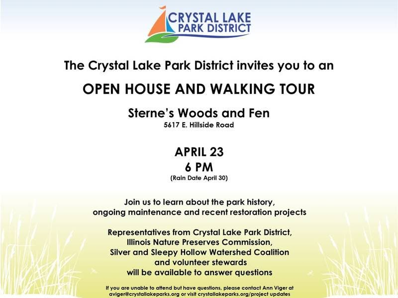 Open House and Walking Tour of Sternes Woods and Fen