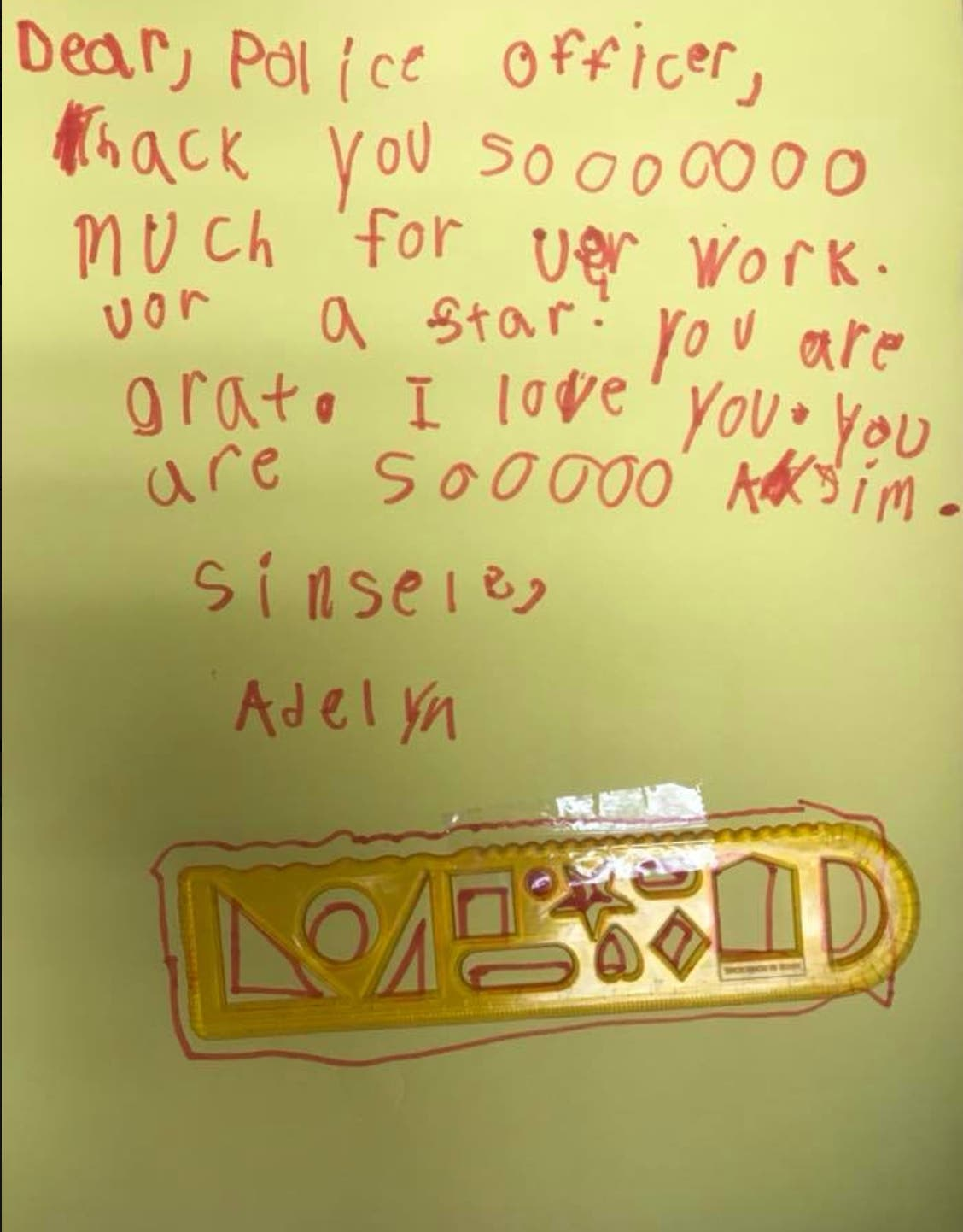 Kid S Thank You Note Other Good News At Forsyth Sheriff S Office