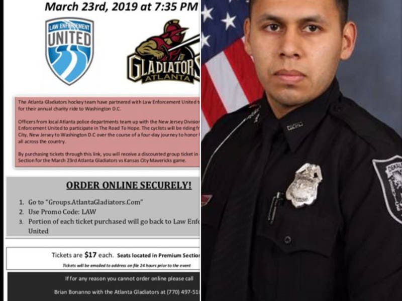 Gladiators Honor Officer Murdered On Duty, Tickets