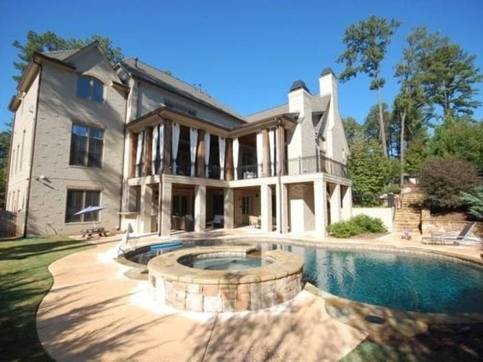 $1.8M Buys Gwinnett Outdoor Living At Its Finest, Pool, Waterfall