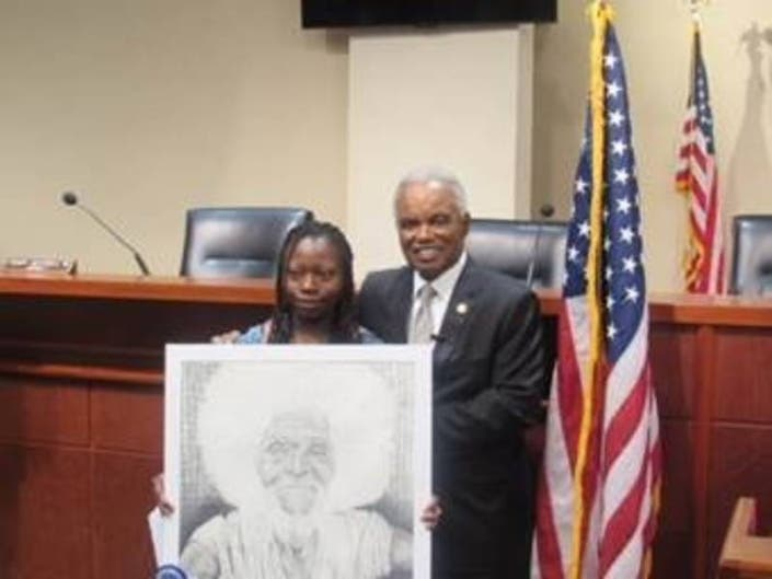 Douglas High Student Wins 1st At Congressional Art Competition