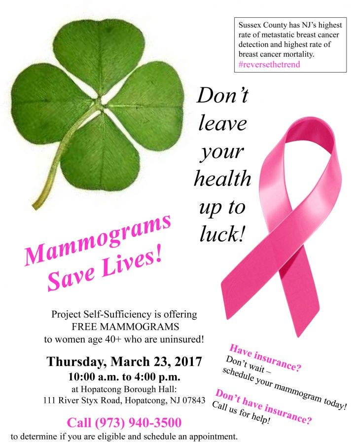 Free Mammograms in Hopatcong this Week! | Hopatcong, NJ Patch