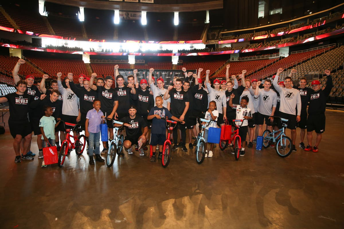 NJ Devils & RWJBarnabas Health Team Up For 'Build-a-Bike' Event