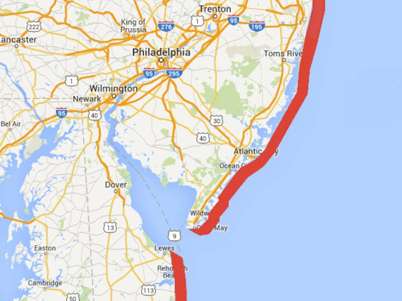 High Rip Current Risk For Monmouth County Beaches On