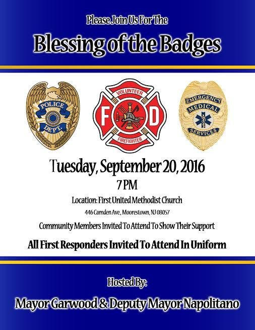 Blessing Of The Badges At First United Methodist Church In