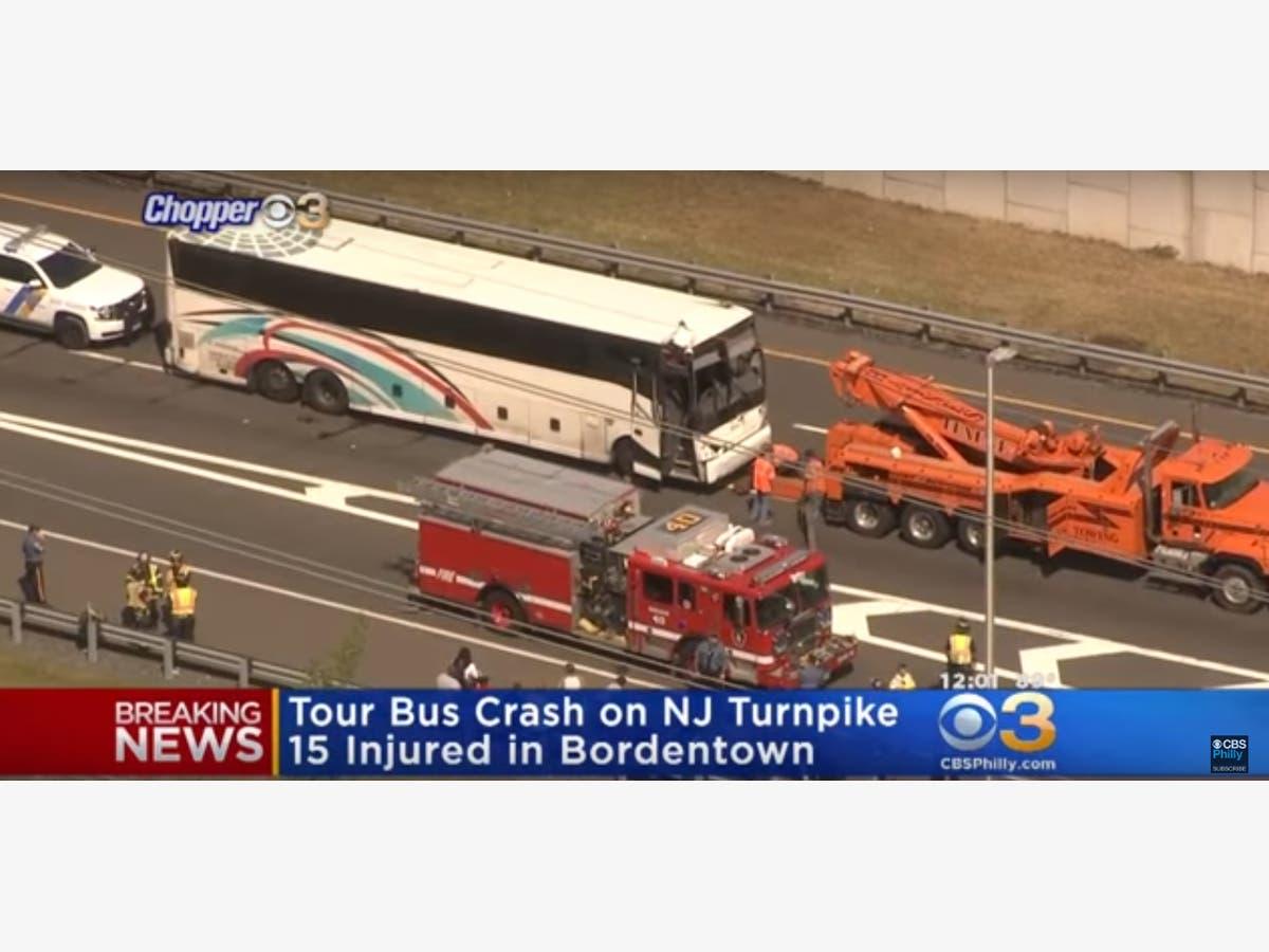 Bus, Truck Crash On NJ Turnpike, At Least 15 Hurt: Police
