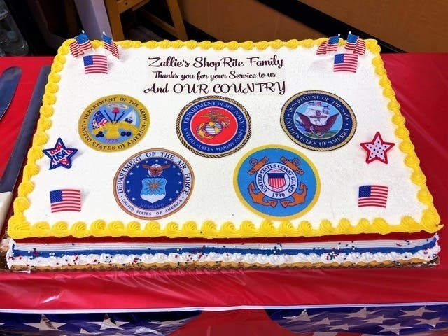 Superb Shoprite In South Jersey Honors Veterans On Armed Forces Day Funny Birthday Cards Online Elaedamsfinfo