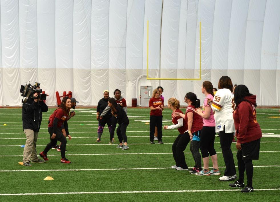 Cheap 100 Women Attend Redskins Football Camp in Ashburn | Ashburn, VA Patch