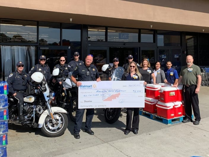 Walmart Stores Give Back To Tri-Valley Police Departments