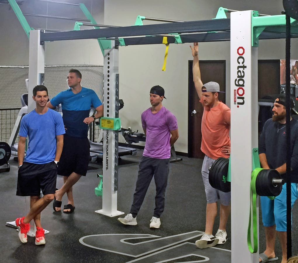 35a16629fcf27 Dude Perfect causes 'office envy' with Escape Fitness inspired functional  fitness loft