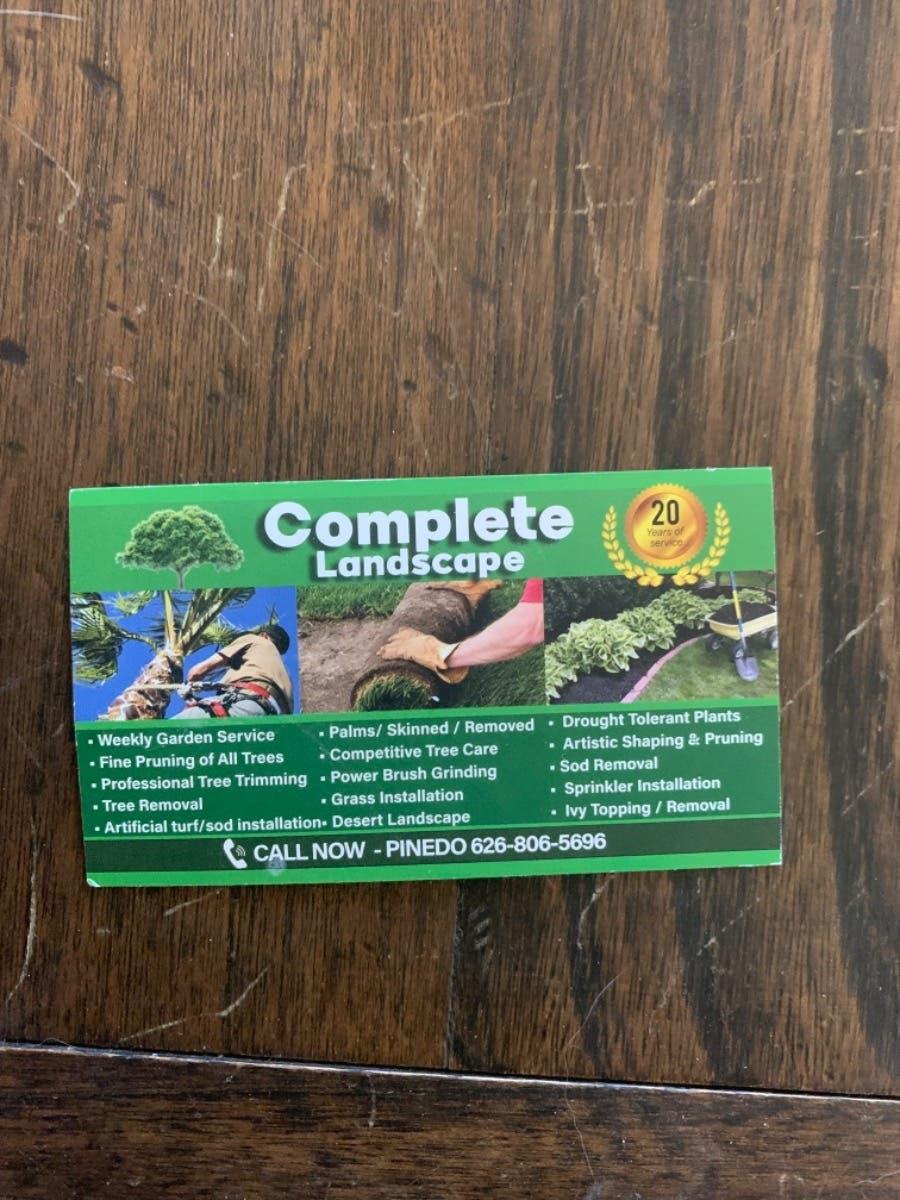 Beware Of Landscape Company Complete Landscape Do Not Use Claremont Ca Patch