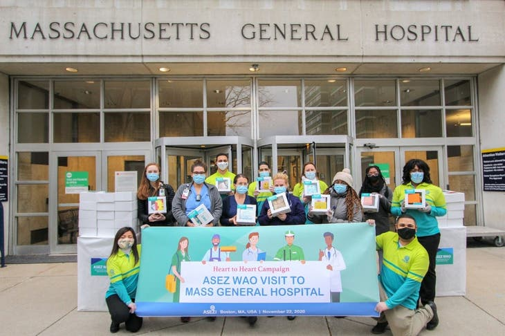 BOSTON — Today, volunteers from ASEZ WAO (Save the Earth from...
